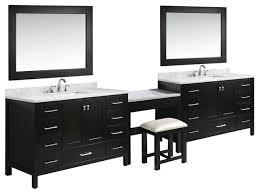 two london 48 single sink vanity set with make up table