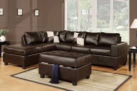 Brown Couch Decorating Ideas by Serene Living Room Decor With Wood Floor And L Shaped Black