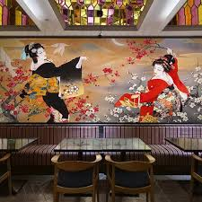 Japanese Design Photo Wallpaper Wall Mural 3D Rolls Shop Restaurant Decorative Papel Papier Peint 3d In Wallpapers From Home