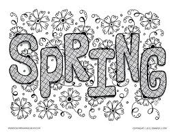 Spring Pictures To Color And Print Coloring Pages For Adults Colouring Funny