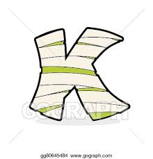 Letter K Monster Zombie Mummy ABC Icon Alphabetical Medical Bandages Egyptian Concept Of Template Elements
