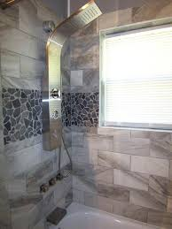 superb accent tiles for shower grey mosaic tile shower wall