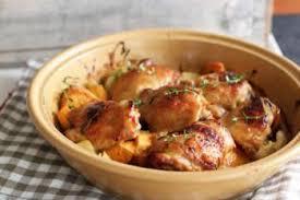 cuisiner poulet au four cuisses de poulet et pommes de terre au four recettes de cuisine