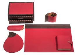 parure de bureau en cuir wengé rosso parure de bureau accessoires maroquinerie de laforêt