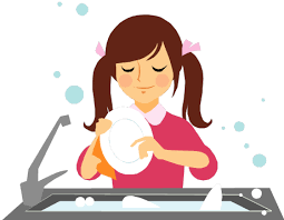 Jpg Freeuse Stock Collection Of Kids Washing High Quality Banner Library Cleaning Dishes Clipart