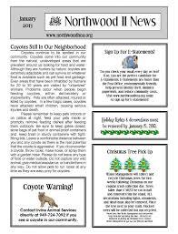 100 Condo Newsletter Ideas January 2013 Northwood II NWII HOA Community Association