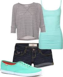 Cute Clothes Different Shoes And Longer Shorts