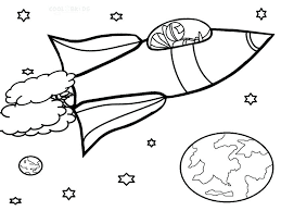 Beagle Coloring Pages Printable Rocket Ship Realistic