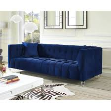 Tufted Velvet Sofa Set by Zuomod Bea Blue Velvet Sofa Tov S85 In 929 Our Bea Sofa Is A