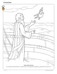 Noach Noah Releases The Dove Bible Coloring Page