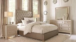 Sofia Vergara Paris Silver 7 Pc Queen Upholstered Bedroom Queen