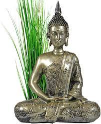 intrendu buddha figur groß 40cm meditierend buddhismus dekoration für die wohnung