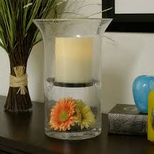 pacific accents wilshire fillable hurricane with flameless candle
