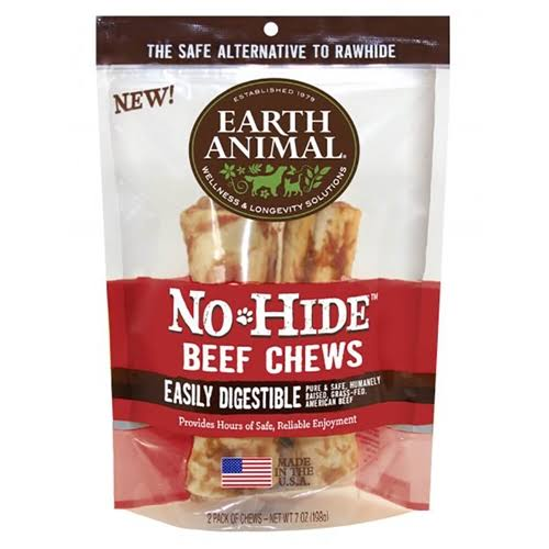 "Earth Animal No-Hide 7"" Beef Dog Chews"