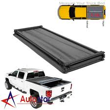100 Truck Bed Length Soft TriFold Tonneau Cover For 20092014 Ford F150 55 55ft