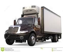 Dark Brown Refrigerator Cargo Truck Stock Illustration ...