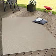 in outdoor flachgewebe teppich terrassen teppiche natürlicher look in beige grösse 200x350 cm