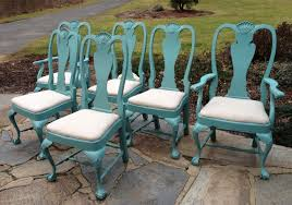 Furniture Home Teal Dining Chairs Fabric Broyhill Brasilia