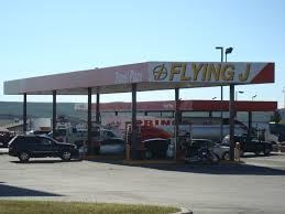 Flying J Travel Plaza Truck Stop I-80 - Evanston, Wyoming Image