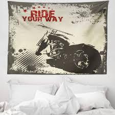 wandteppich aus weiches mikrofaser stoff für das wohn und schlafzimmer abakuhaus rechteckig grau abenteuer mit motorrad kaufen otto