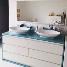 ikeahack malm dresser converted into bathroom sink