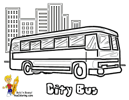 Beautiful Bus Coloring Page 64 For Print With