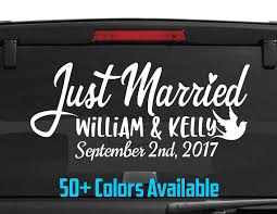 Just Married Car Window Decal Wedding Car Kit Just Married Custom See Through Car Window Decals Dezign With A Z Vehicle Product Anime Dragonball Dragonballz Goku Supersaiyan 4 Rear Graphics Allen Signs Diamond Supply Co Vinyl Decal For Or Truck Sticker Stickers Fearsome And For Small Order Laudable Business Logo Advertising Design Glass Door Magnificent Amazoncom Vuscapes 763szd Chevy Black Bkg Sale Melaleuca Single Color