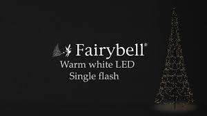 Flagpole Christmas Tree by Fairybell Warm White Flash Youtube