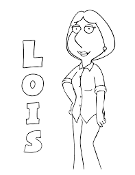 Family Guy Lois Coloring Page