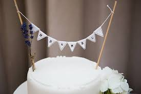 Mr And Mrs Cake Topper Bunting White Black Rustic Wedding Decorations