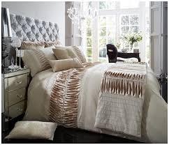 100 Modern Luxury Bedroom Hendem Alina Latte Pleated Panel Duvet Quilt Cover