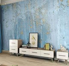 3d fototapete vlies nordic blau gold marmor tv hintergrund