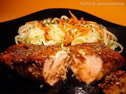cuisiner pavé de saumon poele saumon laqué au soja péché de gourmandise