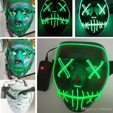 The Purge God Mask Halloween by Led Halloween Ghost Masks The Purge Election Year Mask El Wire