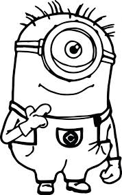 Free Printable Coloring Minion Pages On Online King Bob Games