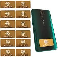 natuxia strahlenschutz handy aufkleber strahlung abschirmung elektrosmog neutralisierer für wlan laptop handy 12 pack