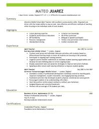 Educator Resume Best Teacher Example