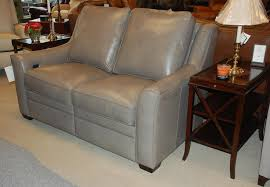 Bradington Young Leather Sectional Sofa by Bradington Young 932 70 Dual Battery Power Loveseat In Leather