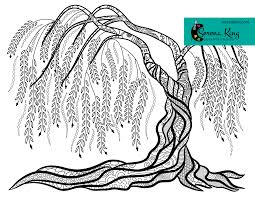 Weeping Willow Tree Coloring Page