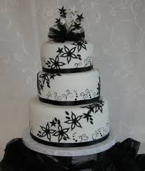 Wedding CakesBlack And White Cakes Without Fondant Beautiful Elegant Black