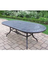 Oakland Living Corporation Plymouth Cast Aluminum 84 X 42 Inch Oval Dining Table
