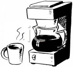 Black and White Coffeemaker Royalty Free Clipart Picture