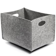 Decorating Fabric Storage Bins by Felt Storage Bins Offering Stylish Storage For Your Home