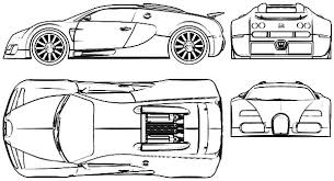 Bugatti Car Veyron Part Colouring Page