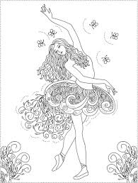 Popular Ballerina Coloring Page 14