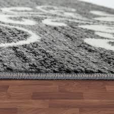 details zu teppich wohnzimmer modern kurzflor mehrfarbig muster floral ornament grau