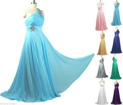 f1 silk chiffon crystals one shoulder evening dress party formal