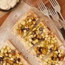 Apple Pear And Raisin Tarts With Cinnamon Yoghurt Cream