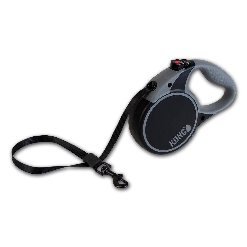Kong Retractable Leash Terrain - Black, Medium
