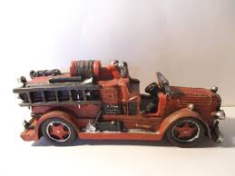Vintage Fireman Fire Truck Red Engine Rescue Department 10